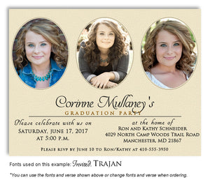 Wheat Invitation Photo Graduation Magnet