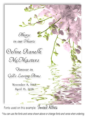 Dusty Pink Floral Water Memorial Magnet
