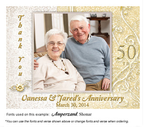 Gold Dressed Up Thank You Anniversary Photo Magnet