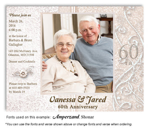 Beige Dressed Up Invitation Anniversary Photo Magnet