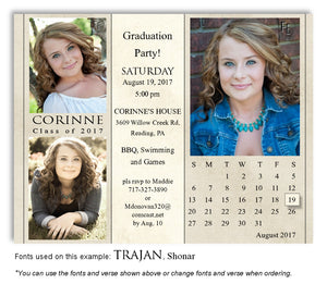Wheat Invitation Calendar Photo Graduation Magnet