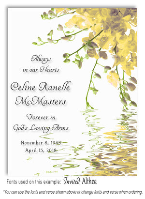 Yellow Floral Water Memorial Magnet