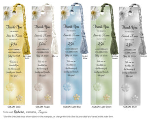 Anniversary Bookmark with Daises