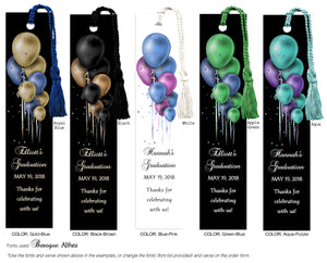 Graduation Bookmark with Balloons