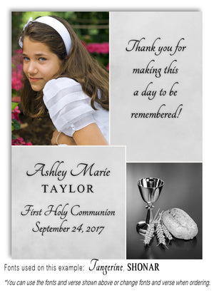 Light Gray Thank You Photo Communion Magnet