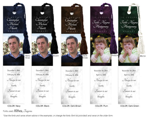 Memorial Photo Bookmark (Book Marks)