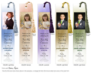 Communion Photo Bookmark with Chalice