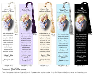Simple Anniversary Photo Bookmark