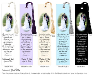 Simple Wedding Photo Bookmark