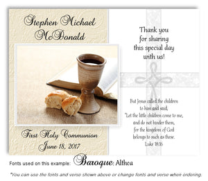 Tan Cross and Chalice Thank You Communion Magnet