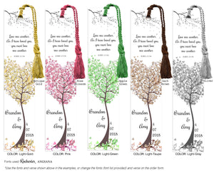 Tree Wedding Bookmark