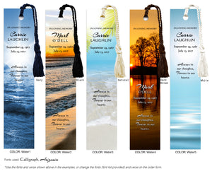Memorial Bookmark with water scene (Book Mark)