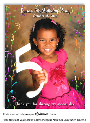 Color Photo Only Thank You Photo Birthday Magnet