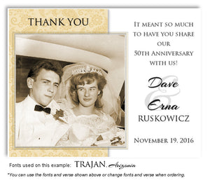 Gold Paisley Thank You Anniversary Photo Magnet