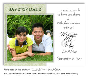 Green Paisley Save the Date Anniversary Photo Magnet