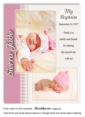Plaid Baptism Photo Magnets - 20