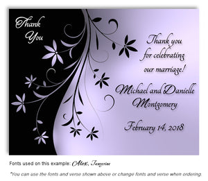 Lavender Dancing Floral Thank You Wedding Magnet