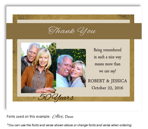 Gold Modern Flare Thank You Photo Anniversary Magnet