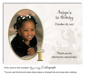 Gold Princess Thank You Photo Birthday Magnet