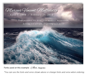 Ocean Waves Memorial Magnet
