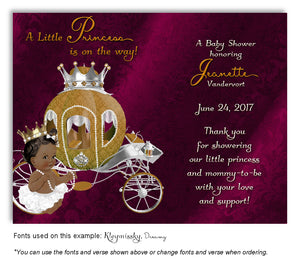 Mulberry Prince/Princess Thank You Baby Shower Magnet