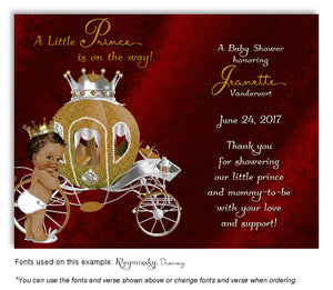 Red Prince/Princess Thank You Baby Shower Magnet