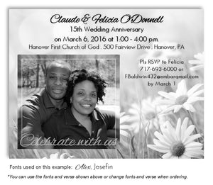 Black and White Fields of Love Invitation Photo Anniversary Magnet