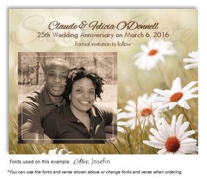 Fall Fields of Love Save the Date You Photo Anniversary Magnet