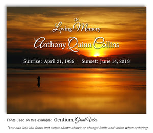 Gone Fishing Memorial Magnet