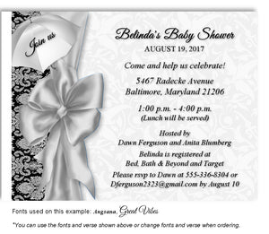 Gray Umbrella Invitation Baby Shower Magnet