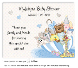 Blue Umbrella Toys Thank You Baby Shower Magnet