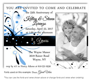 25th-Black-Blue-White-Modern-Invitation-Photo-Anniversary-Magnet-3
