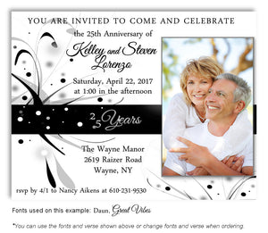 25th-Black-Silver-White-Modern-Invitation-Photo-Anniversary-Magnet-3