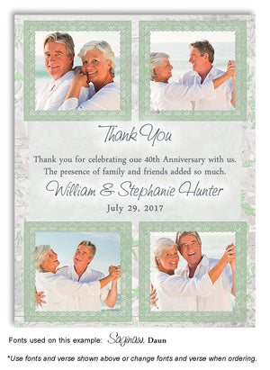 Green Thank You Collage Photo Anniversary Magnet