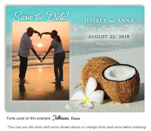 Tropical Save the Date Wedding Photo Magnet