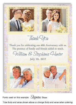 Yellow Thank You Collage Photo Anniversary Magnet