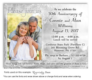 Black and White Sunny Woods Invitation Photo Anniversary Magnet