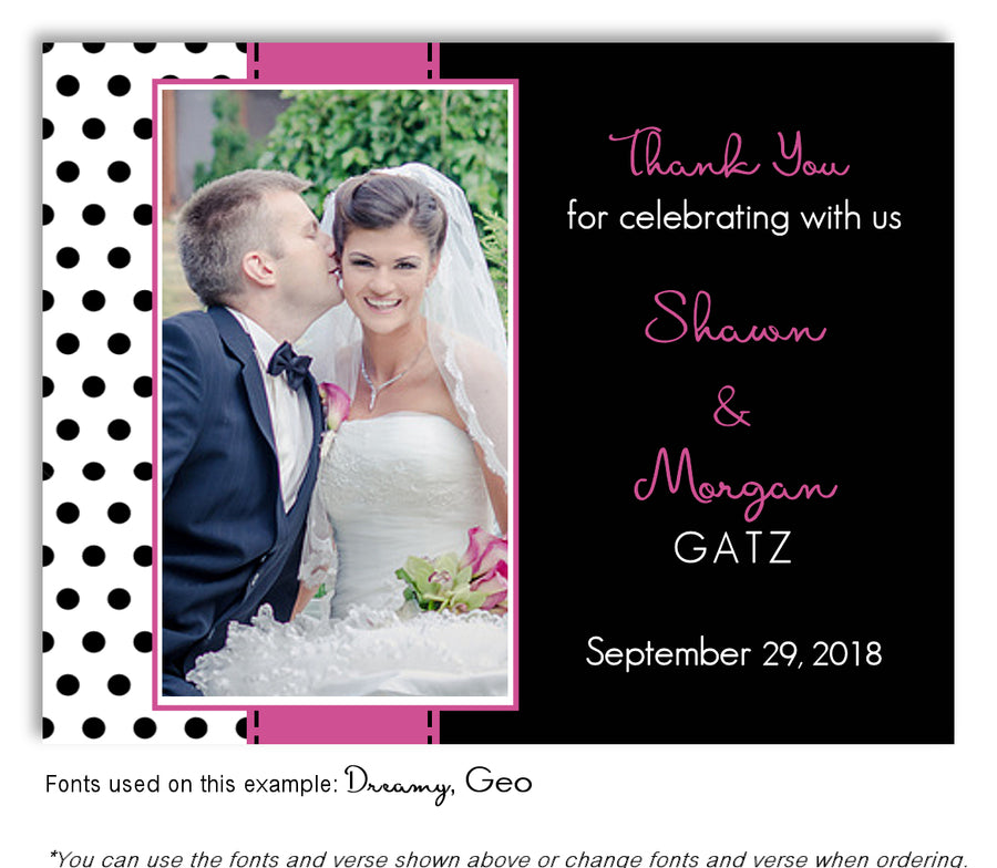 Blue Polka Dot Save the Date Wedding Photo Magnet