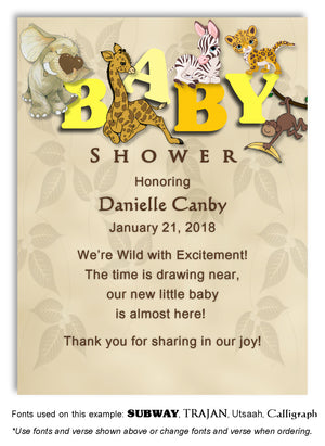 Yellow Jungle Thank You Baby Shower Magnet