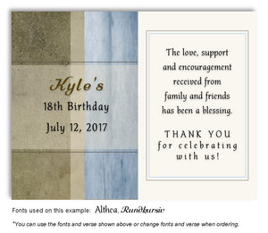 Blue Rustic Thank You Birthday Magnet