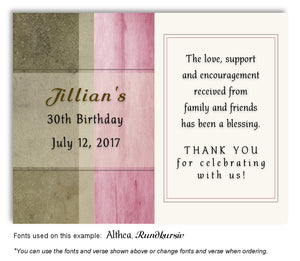 Pink Rustic Thank You Birthday Magnet
