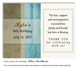 Turquoise Rustic Thank You Birthday Magnet