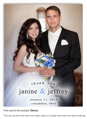 Color Thank You Wedding Photo Magnet