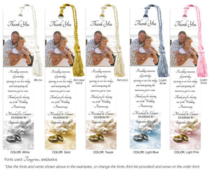 Wedding Bands and Rose Anniversary Photo Bookmark