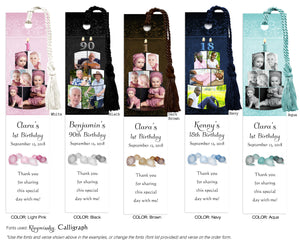 Birthday Cake Collage Photo Bookmark