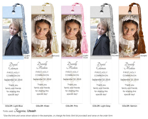 Communion Photo Bookmarks - 3