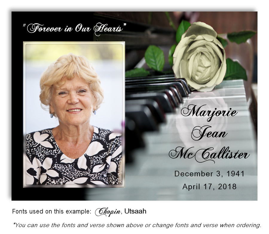 Piano Photo Memorial Magnet
