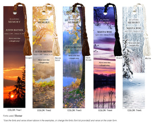 Memorial Bookmark with tree scene (Book Mark)