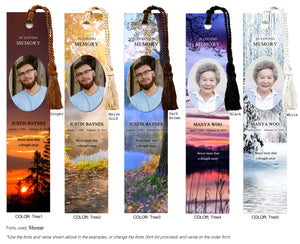 Tree Scenes Memorial Photo Bookmark (Book Mark)