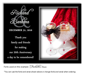 Red Champagne Glasses - Thank You Anniversary Magnet